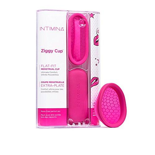 Intimina Ziggy Cup - Extra-dünne wiederverwendbare Menstruationstasse mit flacher Passform