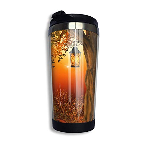 Stainless Steel Coffee Mugs Autumn Pumpkin and Leaf Travel Coffee Thermal Mug 10 Oz (400ml) Insulated Cup Perfect for Travel, Camping, Hiking, The Beach and Sports -