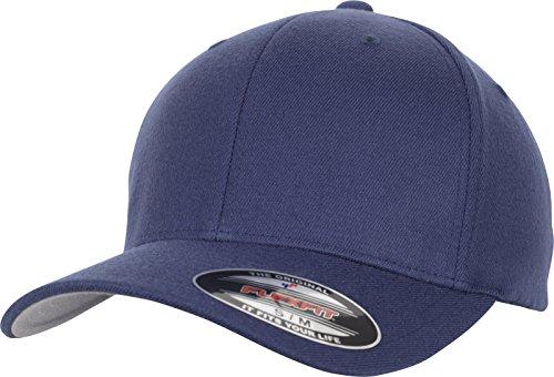 Navy Wool Cap (Flexfit Wool Blend Cap, Navy, L/XL)