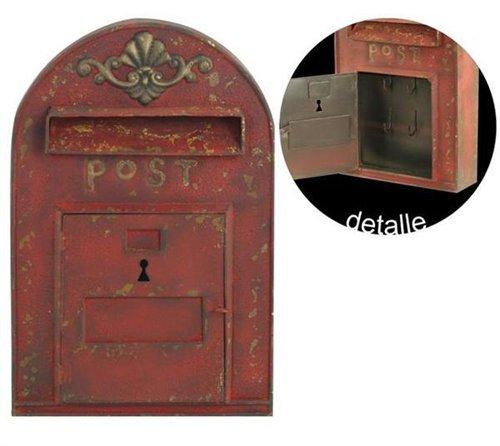 """Preisvergleich Produktbild Signes Grimalt - 44156 Schluesselkasten """"Nostalgie-Briefkasten"""", rot, 38 cm"""
