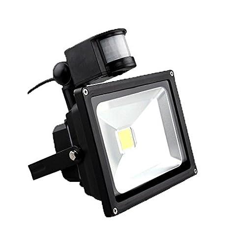 VINGO® 30W Blanc Chaud Projecteur LED détecteur de mouvement IP65