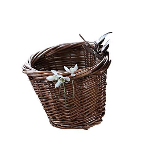 Sensecrol Vintage Rattan Basket-Kinder-Rattan-Korb, Fahrradkorb mit Deckel - ideal für Spielzeug Lagerung, Kinder Lagerung und ausgehen