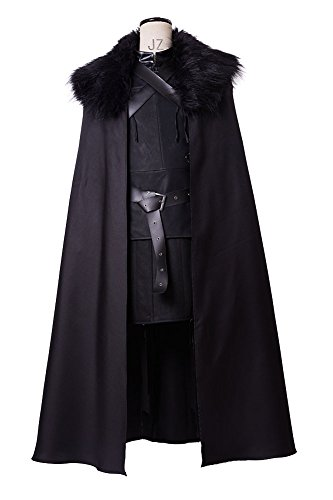 GoT Game of Thrones Jon Snow Night's Watch Outfit Cosplay Costume XXL