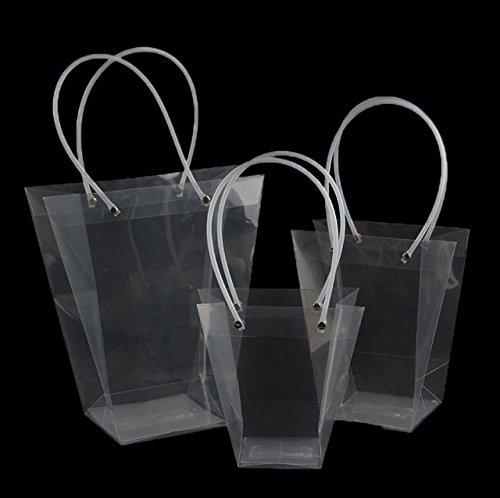 20 Pezzi Wedding Bag Forma T Impermeabile Trasparenti PVC Con Manico Sacchetto Regalo di Nozze (GRANDE)
