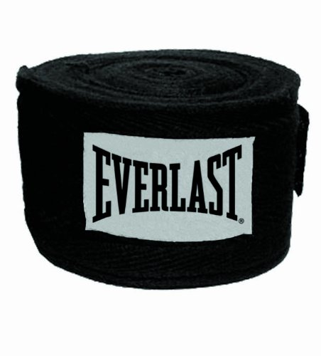 Everlast Bandagen (Black, One Size, 4454B)