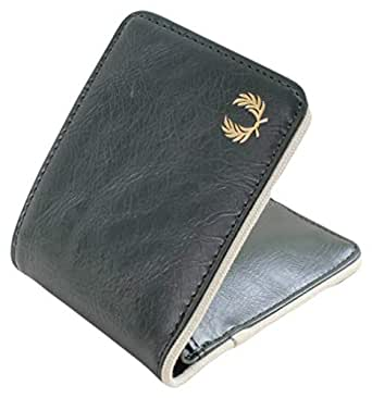 Fred Perry Mens Classic Billfold Wallet - Forest Green/Ecru Cream