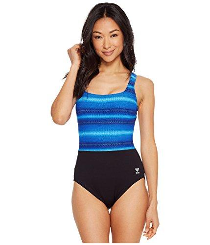 TYR Damen Tramonto Scoop Neck Controlfit Schwimmen One Piece, Damen, blau, Size 18
