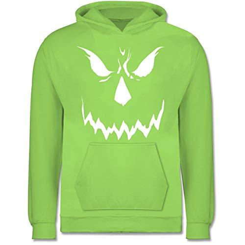 Kinder - Scary Smile Halloween Kostüm - 9-11 Jahre (140) - Limonengrün - JH001K - Kinder Hoodie ()