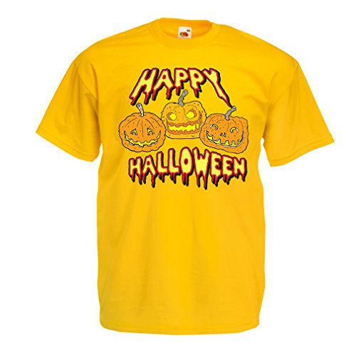 Männer T-Shirt Happy Halloween! Party Outfits & Costume - Gift Idea (XX-Large Gelb (Australien Horror Kostüme)
