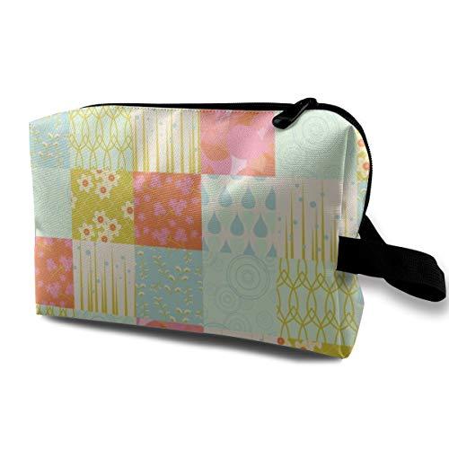 April Showers_5665 Tragbare Reise-Make-upkosmetiktasche-Organisator-Multifunktionsfall-Taschen für Frauen (April Showers-stoff)