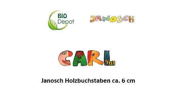 6cm Buchstaben-Set Diewald ImseVimse Janosch Buchstaben Holzbuchstaben Karl jeweils ca