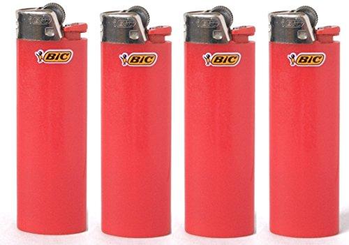 LOT OF 4BIC Rot Classic Full Größe Feuerzeuge New (Bic Feuerzeug Sport)