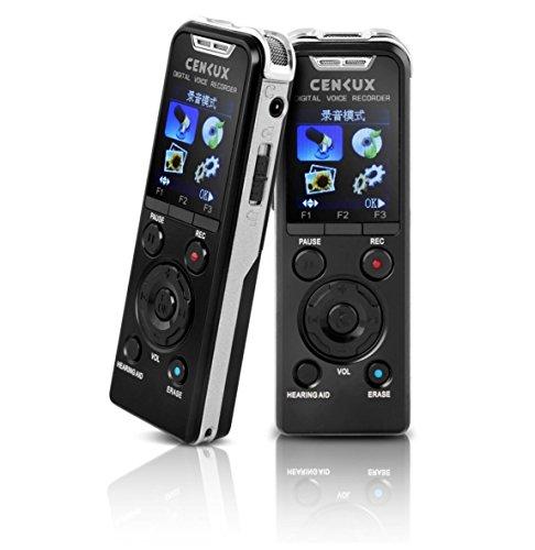 Registratore vocale digitale professionale 8GB lettore MP3 ricaricabile con altoparlante integrato telefono / registrazione del telefono attivazione vocale voice recorder