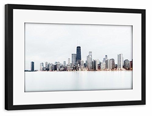 artboxONE Poster mit Rahmen Schwarz 30x20 cm Windy City #2