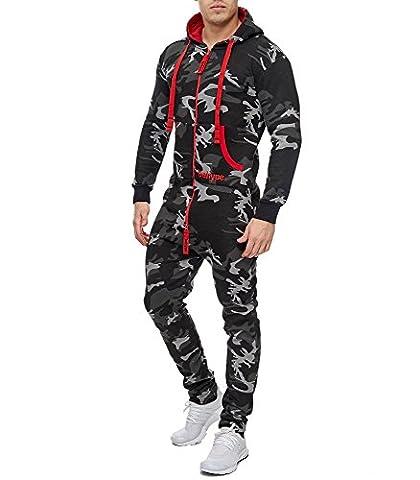 Violento - Combinaison de jogging camo Combi 5-107 noir - L - Noir