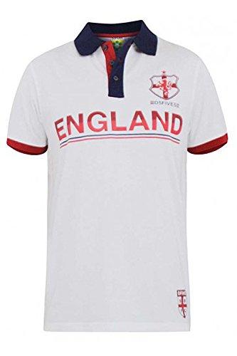 Hughes Adults Polo Shirt England Flag Vintage Olympics ST Georges Football Cross Tee Top