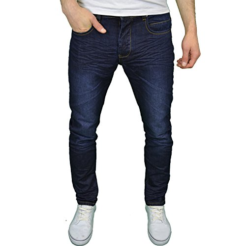 eto-da-uomo-designer-marca-lavaggio-scuro-tapered-slim-fit-smart-casual-jeans-38w-x-34l-42-52