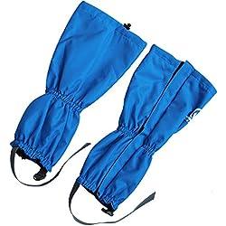 Polainas impermeables impermeables de la pierna de la nieve respirable con fibra suave dentro para el invierno, tela de nylon a prueba de polvo, calientan la cubierta de los zapatos para el esquí Escalada que camina la pesca al aire libre de la montaña, investigación, caza, podadera