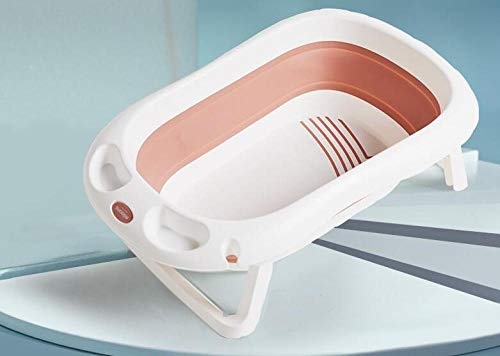 vasca bagno neonato,Vasca da bagno per bambini, pieghevole salva spazio, grande vasca da bagno per bambini felice @pink