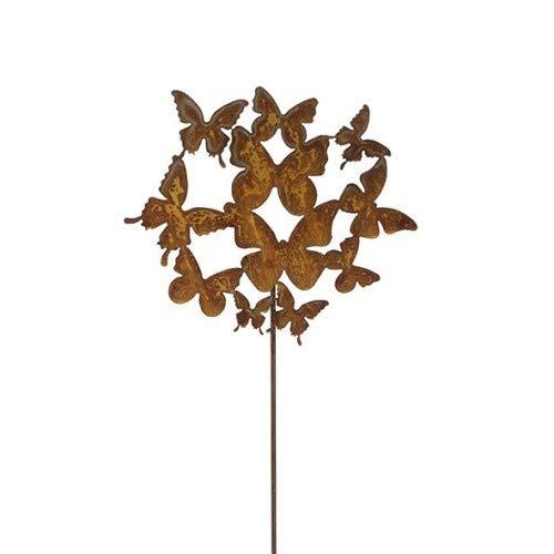 Blümelhuber Gartenstecker Schmetterlinge 100cm Metall Rost Gartendeko Edelrost Groß