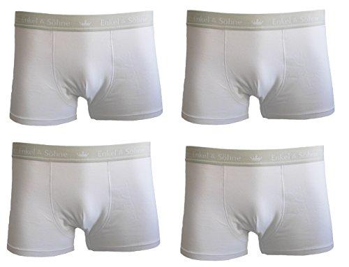 Herren Boxershorts Unterwäsche Unterhosen Nahtlos in 4er und 10er Pack Baumwolle/Spandex Weiß