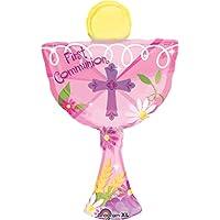Amscan Super / inviti a forma di globo prima comunione Calice, Rosa