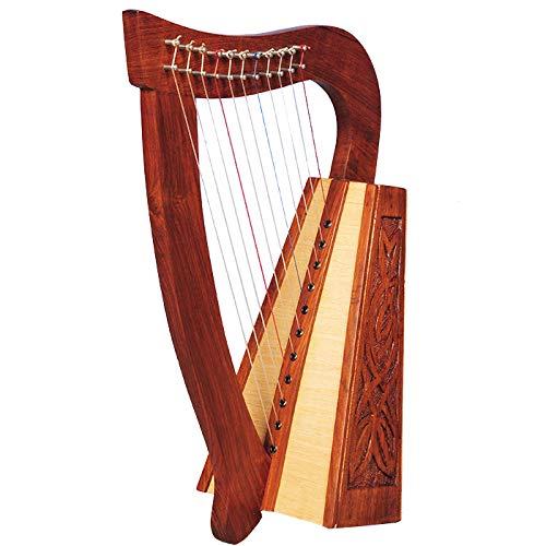 Muzikkon O\'Carolan Harp Strickgarn, Rosenholz mit 11 Saiten