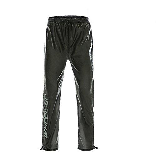 GWELL Ultraleicht Fahrrad Regenhose 100% Wasserdicht Visible Reflektierend schwarz Hose 3XL