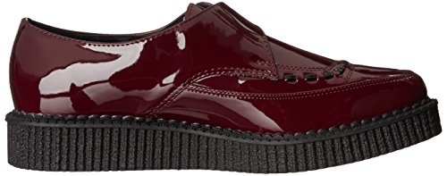 T.U.K. Shoes Mens Burgundy Patent Monk Buckle Pointed Creeper Red