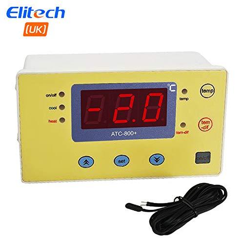 Thermostat-fan-schalter (Elitech 220V Digitaler Temperaturregler Thermoelement für Aquarium Heizmatten, Terrarium, Vivarium, Huhn Brutkasten, Gewächshaus Fans, Elektrische Schalter usw.)