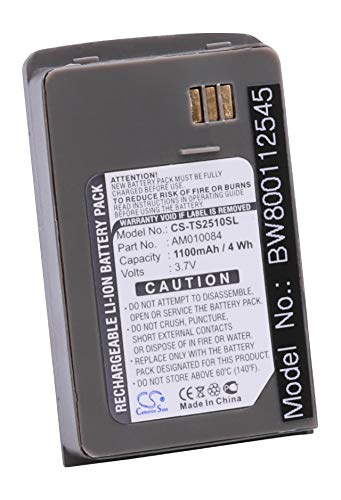 vhbw Li-Ion Akku 1100mAh (3.7V) für Satelliten Handy Telefon Thuraya SO-2510, SO-2520, SO-3319 wie AM010084.