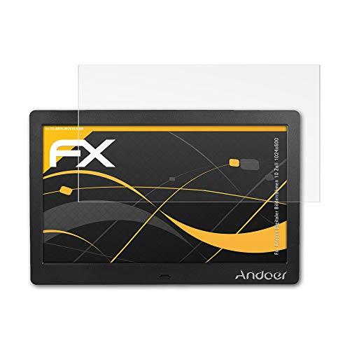 atFolix Schutzfolie für Andoer Digitaler Bilderrahmen 10 Zoll (1024x600) Displayschutzfolie - FX-Antireflex blendfreie Folie