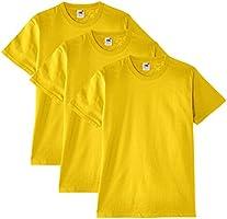 Fruit of the Loom Heavy Cotton Tee Shirt 3 Pack, T-Shirt da Uomo