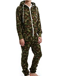 Army Camouflage Hooded Fleece Onesie