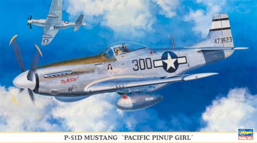 Hasegawa p51-d Mustang Pacific Pin Up Girl Model Kit