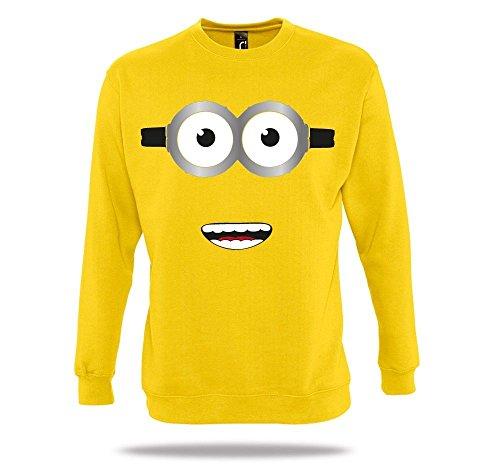 Ich Bin EIN Minion Gelb Pullover Kostüm Karneval Herrentag Minions Movie Homage (Minions, Halloween Ich)