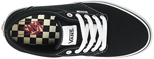 Vans Atwood, Baskets Basses Homme Noir (Contrast Stitch black/white)