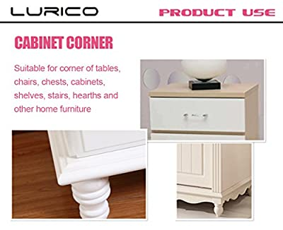 LURICO Corner Guards 4 Piece Set - Cushiony Table Furniture Childproofing Corner Cushion Protectors Baby Safety Extra Dense Non Toxic Edge & Corner Guard Bumpers - low-cost UK light shop.