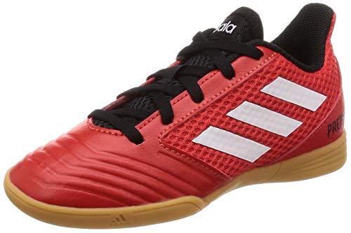 9 - Adidas Predator Tango 18.4 Sala J, Zapatillas de fútbol Unisex niño, (Rojo/Ftwbla/Negbás 001), 37 1/3 EU