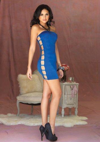 Leg Avenue - Tube-Dress Slinky - seitlich offen - LA 8260, Farbe:Koenigsblau;Groesse:One (Leg Avenue Kostüme 2017)