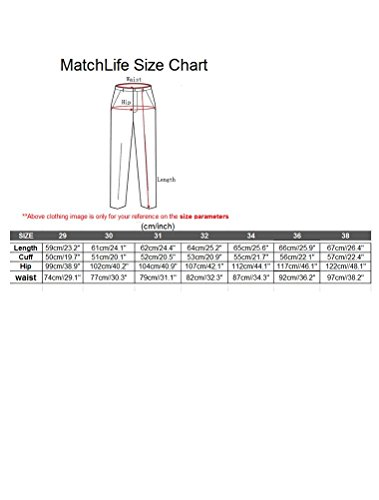 MatchLife Herren Cargo Shorts mit Gürtel Baumwolle Kurze Hosen Style1 Dunkelblau