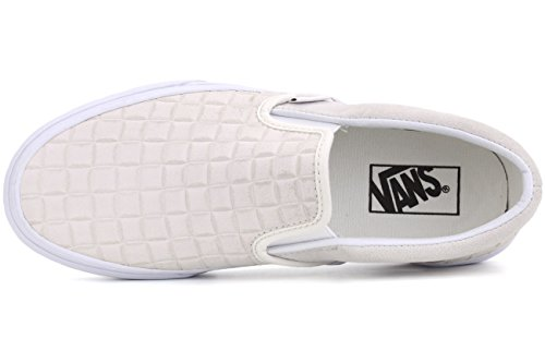 Vans Unisex-Erwachsene Classic Slip-On Low-Top (suede checkers) blanc de
