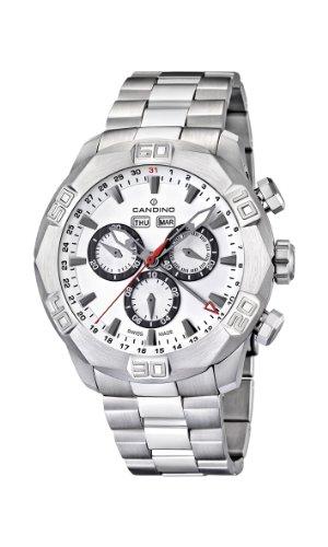 Candino Men'Armbanduhr Chronograph Edelstahl silber C4477, 1 Stück