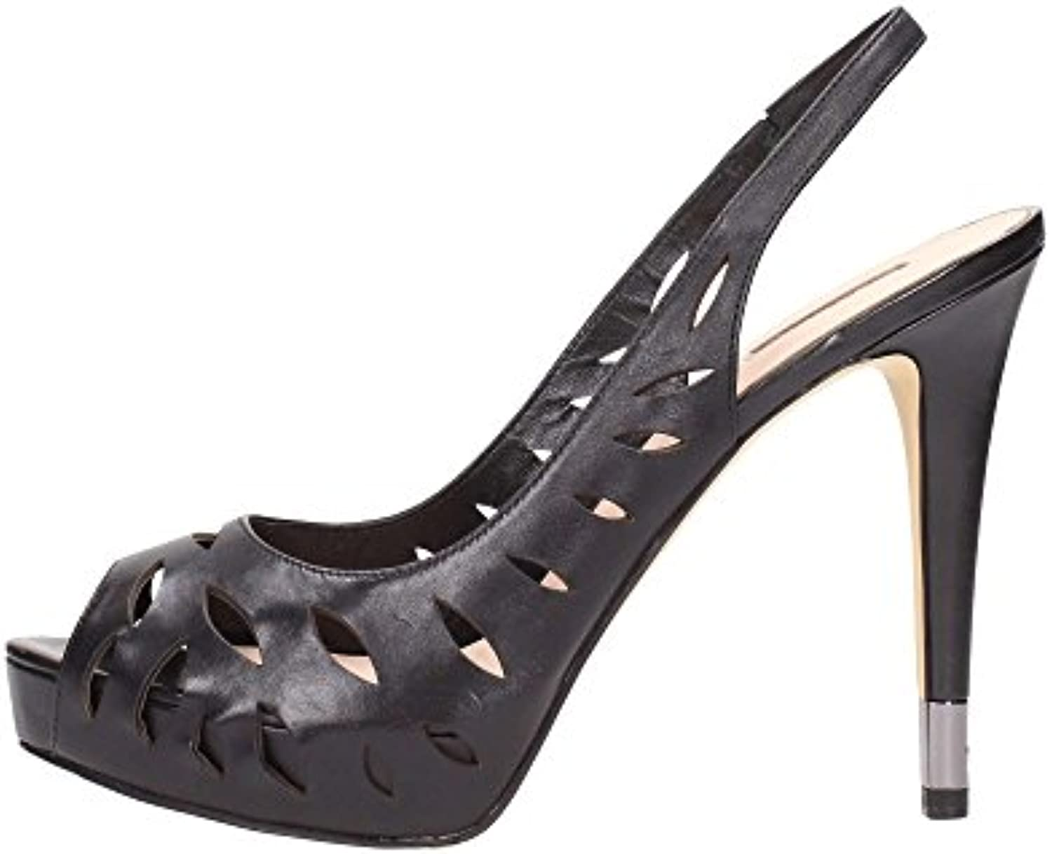 GUESS Damen Pumps Highheels Stilettos Plateau Schwarz