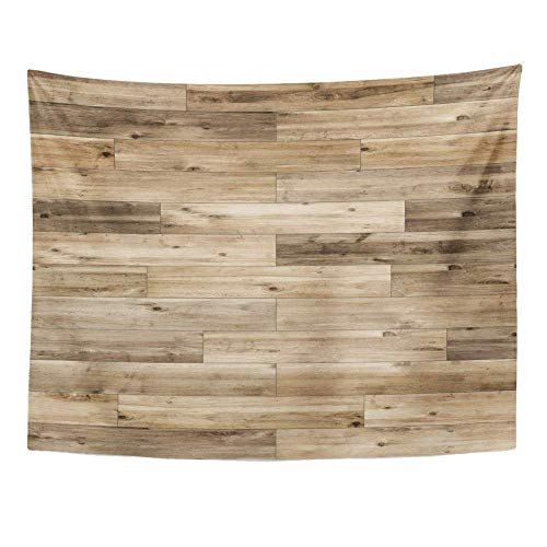 BAOQIN Tapisserie Unique Design Wonderful Prints Tapestry Home Decor Ash Wood Parquet Linear Brown Beechwood Board Finish Floor Flooring Game Wall Hanging 60x80 Inches (Beach Wood Flooring)