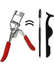 3 Teiliges Wimpernform Set : Wimpernzange mit Ersatz Silikonpads, Applikator für die Falschen Wimpern, Mascara Pinsel in Geschenkbox