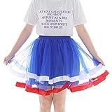 Gonna da Donna Tutu,Skirt da Donna Elegante,YanHoo Gonna Corta di Garza Plissettata di Alta qualità da Donna Gonna Tutu per Adulti per Vestiti Abito da Donna Blu Taglia Unica