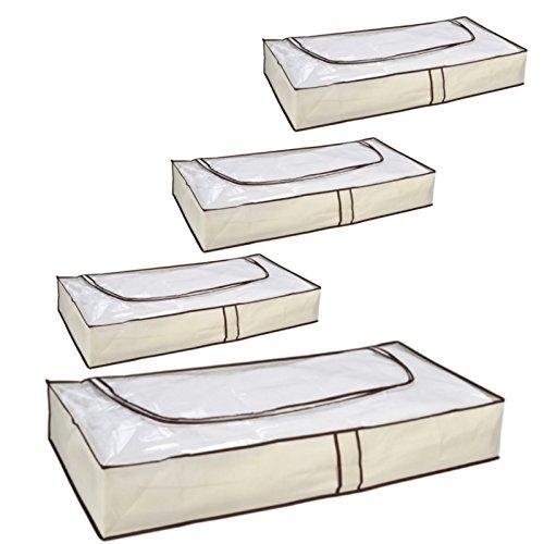 3 Stück Kommode (Loose und Germershausen GbR 1-6 Stück Unterbettkommode Unterbett Kommode mit Reißverschluß Aufbewahrung (4))