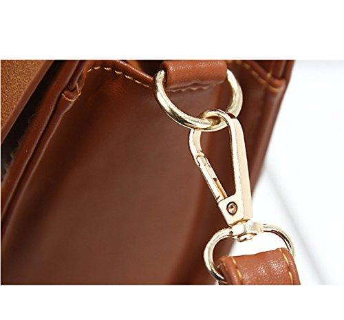 MYLL Borse Dell'unità Di Elaborazione Delle Donne Nuovo Sacchetto Di Spalla Registrabile Della Spalla Della Spalla Per Le Donne,Brown RubberRed