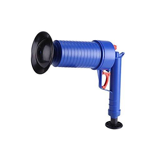 Bomba de drenaje de aire de alta presión, desatascador de aire, desagüe de tubería, herramientas para baño, ducha, bañera, tubería de cocina, azul